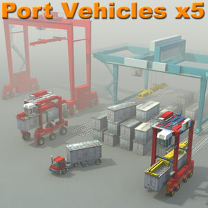 maya container ports industrial vehicles
