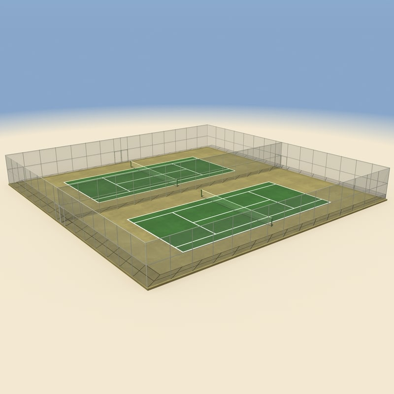 3ds max tennis court