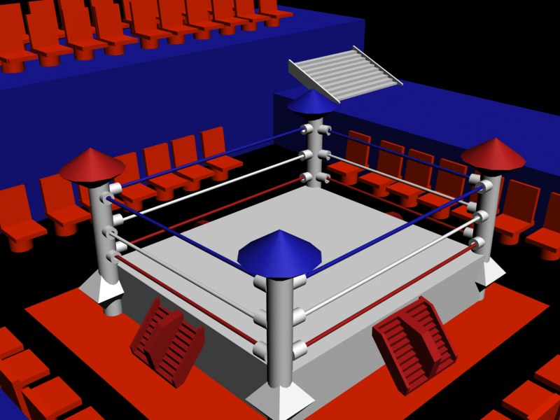 sport ring boxing 3d max