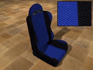 3d model race car seat