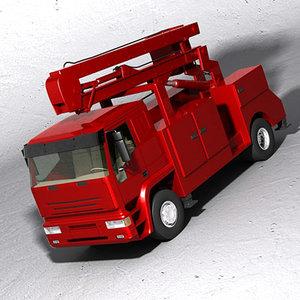 3d bucket truck