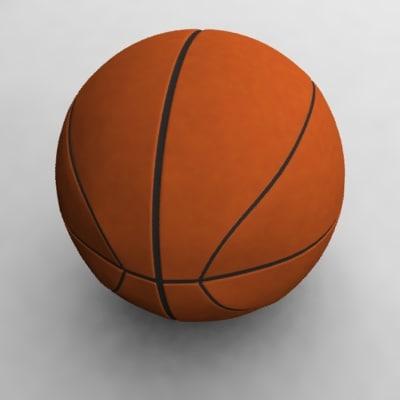 3d model ball basketball