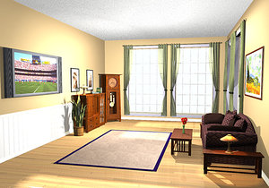 living room environment 3d ma