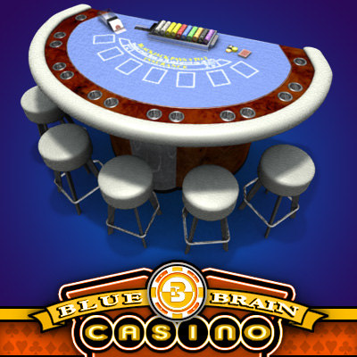 3d casino blackjack table model