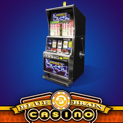 casino slot machine 4 3d model