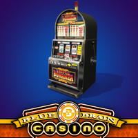 casino slot machine 5 3d model