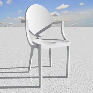 3dsmax kong armchair arms