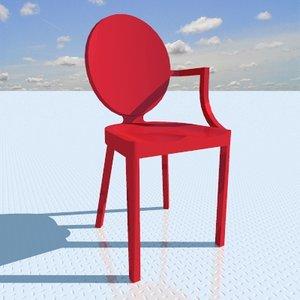 3d kong armchair designed