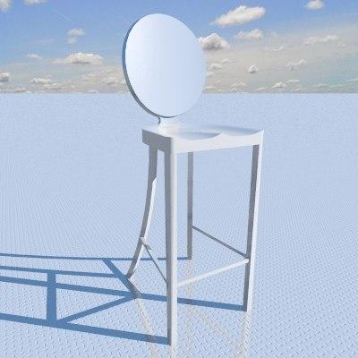 3d model kong bar stool