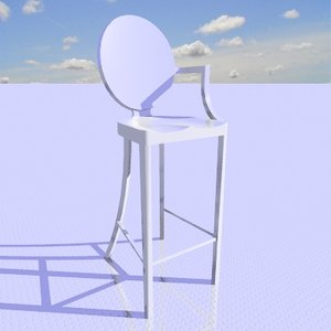 3ds max kong bar stool