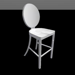 3d model kong stool