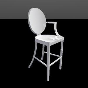kong counter stool 3d model