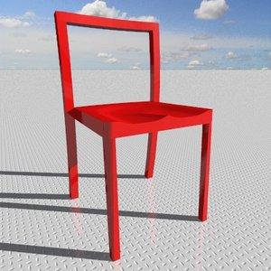 3d icon chair