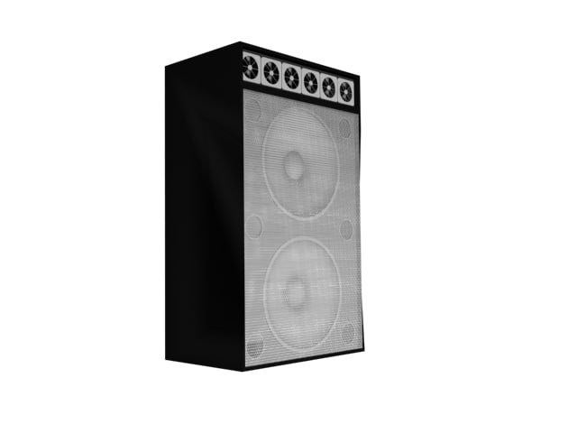 concert speaker 3d max