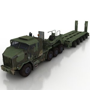 3d model truck vehicle transport