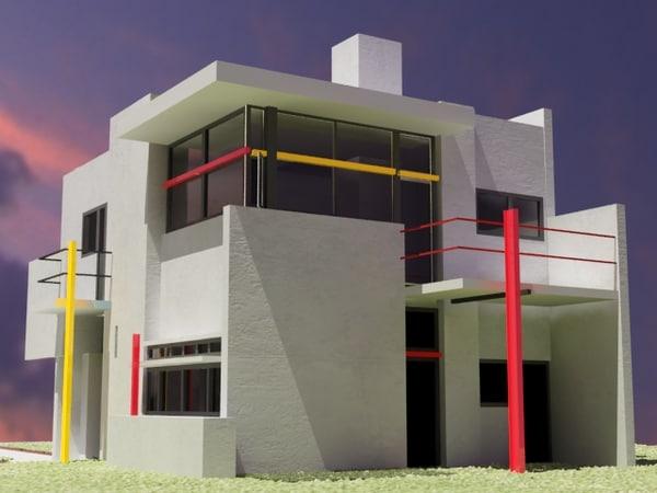 schroder house 3d model