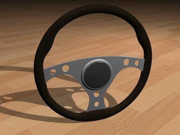 3d racing steering wheel black leather