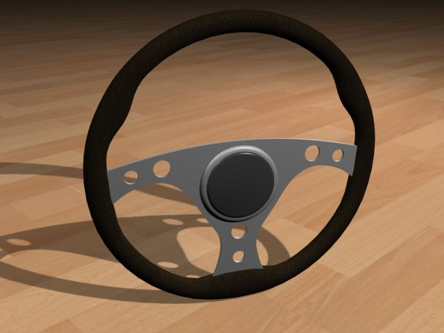 3d racing steering wheel black leather