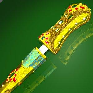 indian knife khanjar 3d max