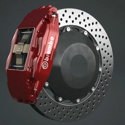 big brake caliper 3d model