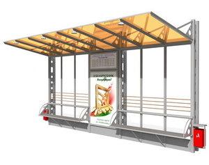 tram stop 3d model