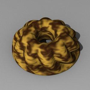 3d model of fancy bread