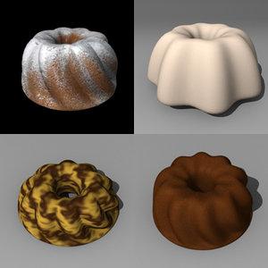 3d model fancy bread
