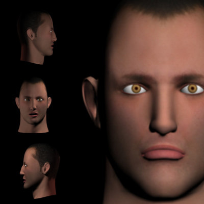 maya male head s