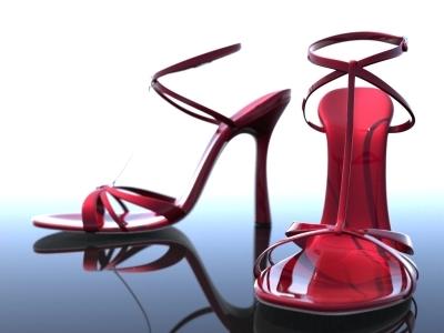 3d model of stiletto shoes heel