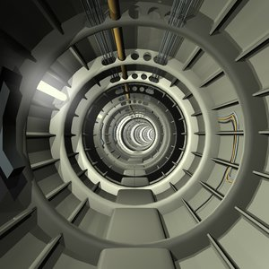 3d corridors tunnels