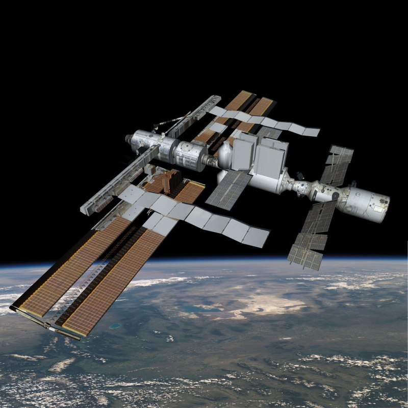 3d model of orbiting space platform