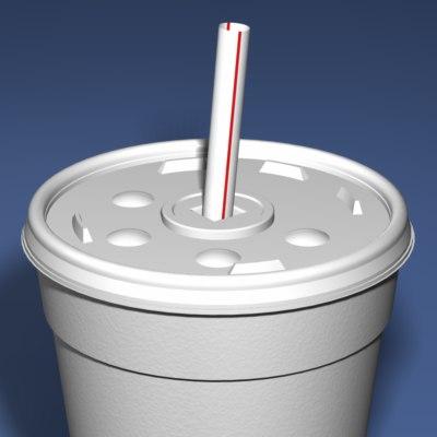 3d styrofoam cup
