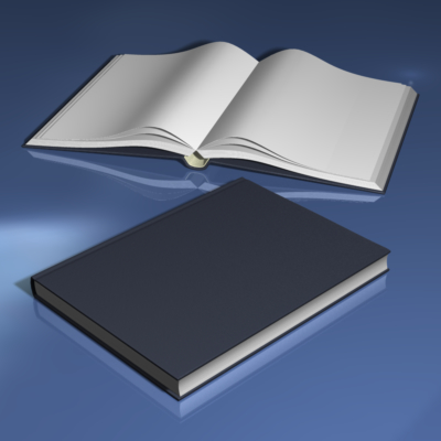 3d model hardcover book binding