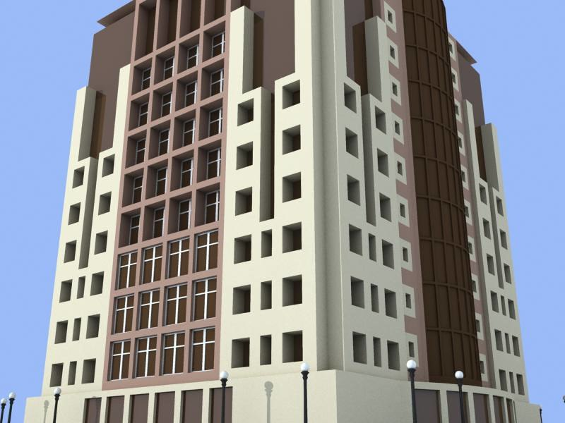 3d model of office building 2