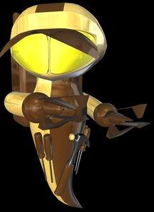 3d c4d robot robotor