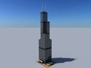 sears tower building 3d model