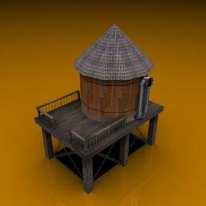 pelican watertower 3d obj