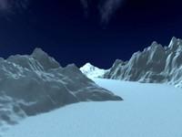 3d model glass mountain hills