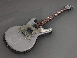 rammstein guitar 3d model