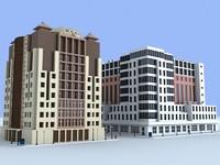 3d model 2 office buildings