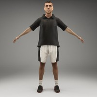 3d axyz rigged characters model