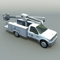 3ds max cherry crane vehicle