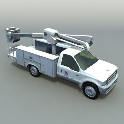 3ds max cherry crane vehicle