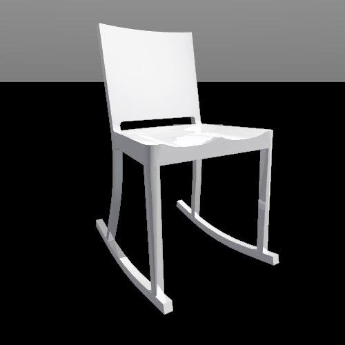 hudson rocking chair 3ds