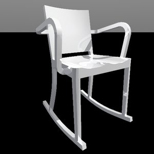 3ds max hudson rocking chair