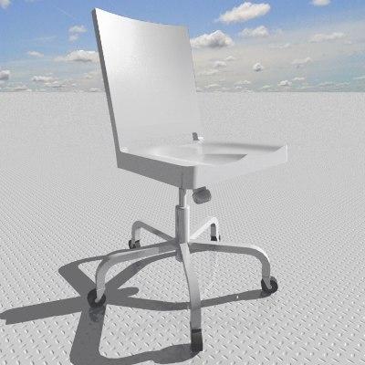 hudson swivel chair 3d model