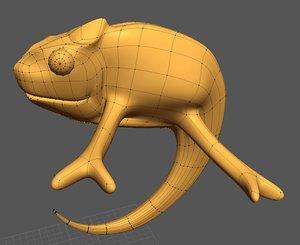 chameleon animation 3d model