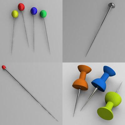 3d pin paperpin model