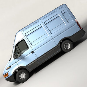 3d model euro delivery van