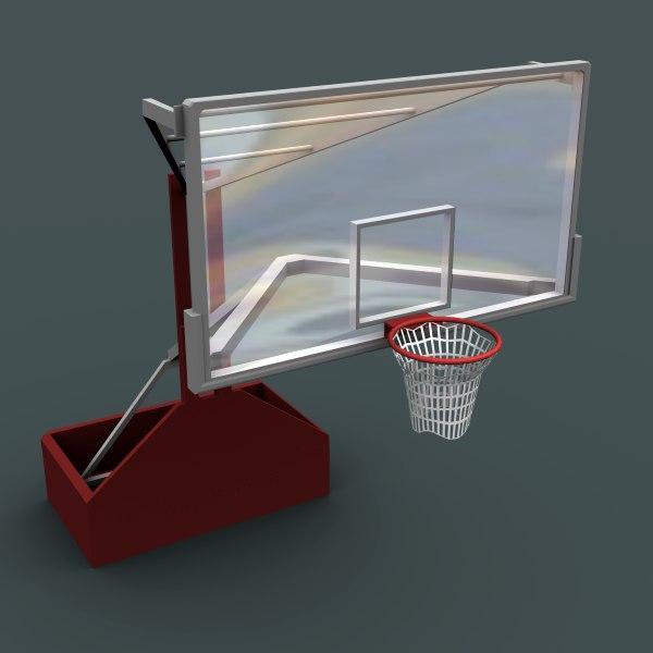 basketball hoop 3d model